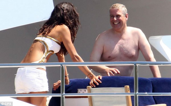 Prince Andrew's Man Boobs