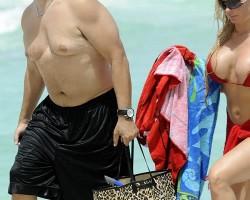 Ice T Man Boobs Beach