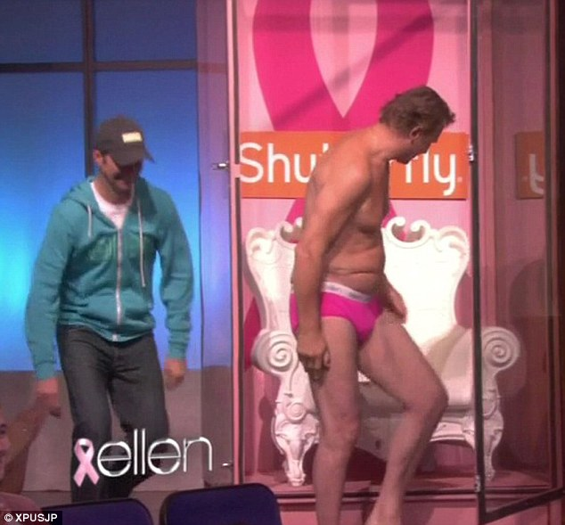 Liam Neeson Man Boobs on Ellen Show