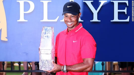 Tiger with Players Trophy