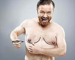 Ricky Gervais Lloses his Man Boobs